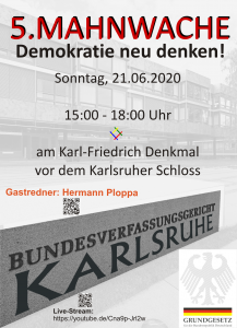 "5. Mahnwache ""Demokratie neu denken!"""