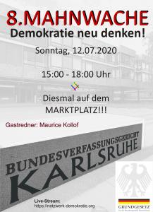 Livestream – 8. Mahnwache Karlsruhe