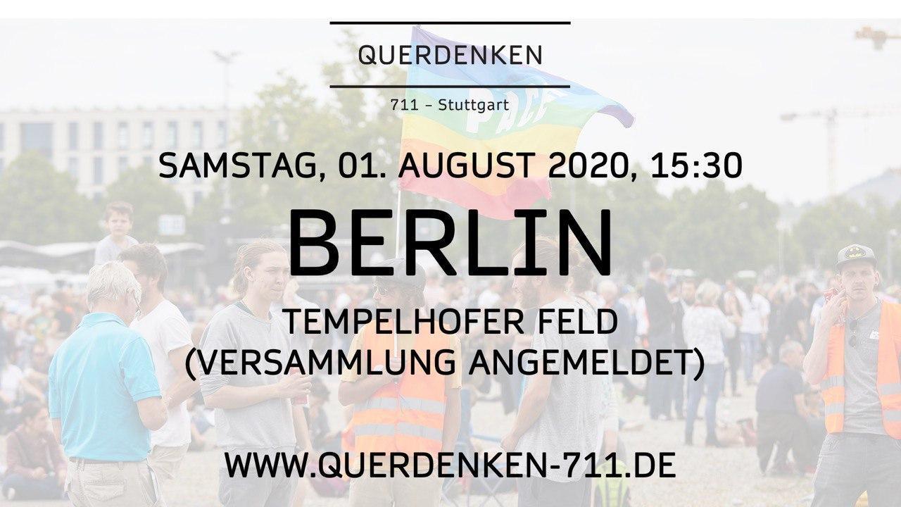 Bus + Ü + FS für Querdenken Demo 01.08. Berlin | Teilnahme