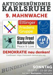 Livestream 9. Mahnwache Aktionsbündnis Karlsruhe 19.07.