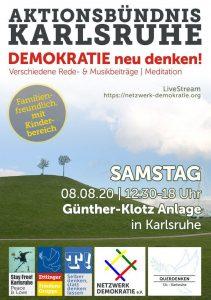 Aktionsbündnis Karlsruhe 11. Mahnwache 8.8. 12 30 – 18 00 Uhr